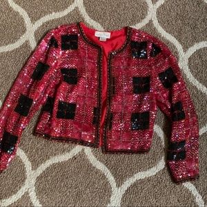 Vintage Silk Sequin Jacket